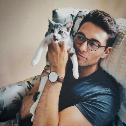 Hot Dudes with kittens