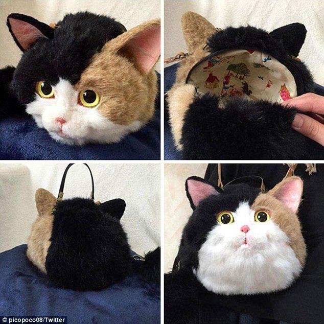 Dal Giappone, borse-gatto