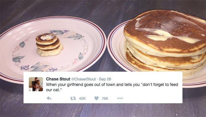 """La colazione con pancake """"cat-size"""""""