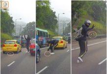 Il motociclista di Hong Kong salva un gattino rosso intrappolato nel traffico dell'ora di punta