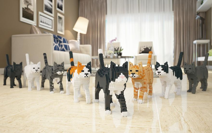 Gatti di Lego, per chi di gatti non ne ha mai abbastanza